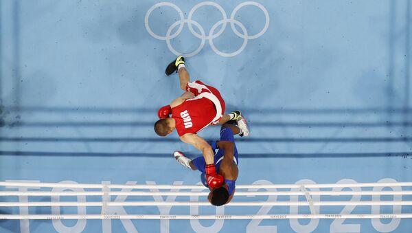 Tokyo 2020 Olympics - Boxing - Men's Middleweight - Quarterfinal - KKG - Kokugikan Arena - Tokyo, Japan - August 1, 2021 - Sputnik International