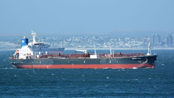 The Mercer Street, a Japanese-owned Liberian-flagged tanker managed by Israeli-owned Zodiac Maritime that was attacked off Oman coast as seen in Cape Town, South Africa, December 31, 2015  in this picture obtained from ship tracker website, MarineTraffic.com. Picture taken December 31, 2015.  Johan Victor/Handout via REUTERS THIS IMAGE HAS BEEN SUPPLIED BY A THIRD PARTY. MANDATORY CREDIT. NO RESALES. NO ARCHIVES. - Sputnik International