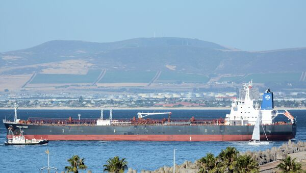 The Mercer Street, a Japanese-owned Liberian-flagged tanker managed by Israeli-owned Zodiac Maritime that was attacked off Oman coast as seen in Cape Town, South Africa, January 2, 2016 in this picture obtained from ship tracker website, MarineTraffic.com. Picture taken January 2, 2016.  Johan Victor/Handout via REUTERS THIS IMAGE HAS BEEN SUPPLIED BY A THIRD PARTY. MANDATORY CREDIT. NO RESALES. NO ARCHIVES. - Sputnik International