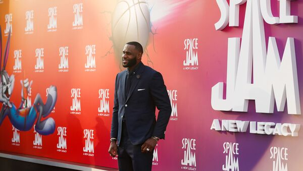 Cast member Lebron James attends the premiere for the film Space Jam: A New Legacy in Los Angeles, California, U.S. July 12, 2021.  - Sputnik International