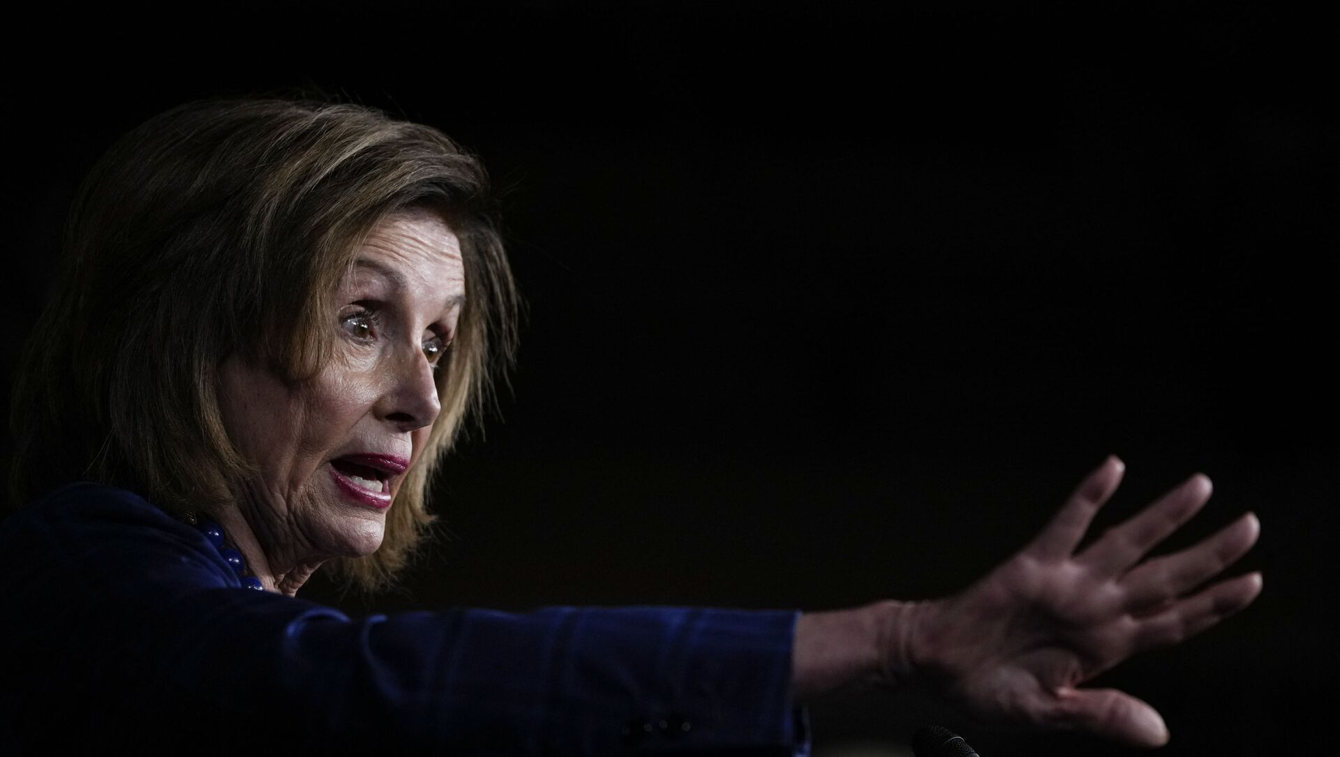 Speaker of the House Nancy Pelosi (D-CA) speaks during a news conference on Capitol Hill July 30, 2021 in Washington, DC. Pelosi and House Democratic leadership held the news conference to highlight their legislative agenda.  - Sputnik International, 1920, 02.08.2021