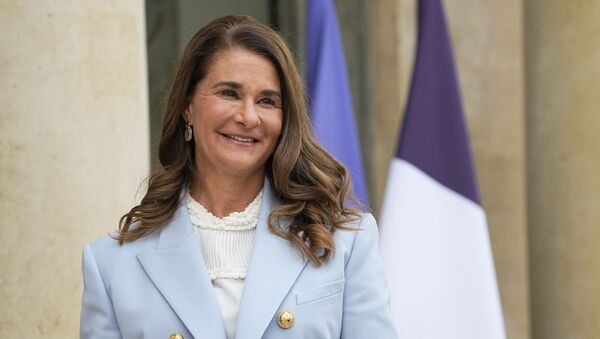 In this Thursday, July 1, 2021, file photo, Melinda Gates, co-chair of the Bill and Melinda Gates Foundation, poses for photographers as she arrives for a meeting after a meeting on the sideline of the gender equality conference at the Elysee Palace in Paris. - Sputnik International