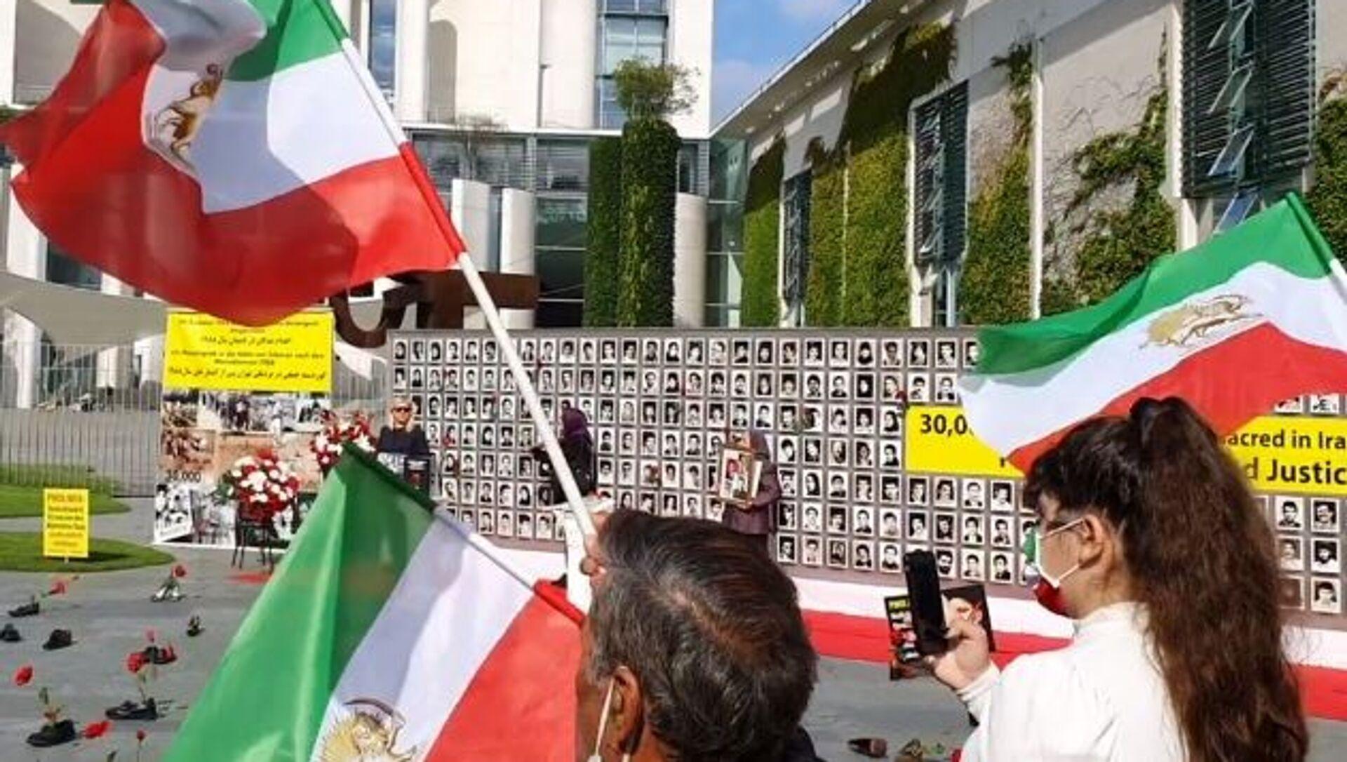 Rally in Support of Iran's Political Prisoners Held in Berlin Ahead of Raisi's Swearing In - Sputnik International, 1920, 03.08.2021