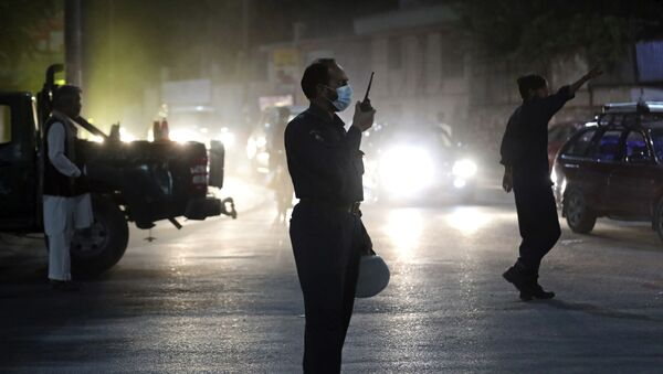 Afghan security personnel work at the site of a powerful explosion in Kabul, Afghanistan, Tuesday, Aug. 3, 2021. - Sputnik International