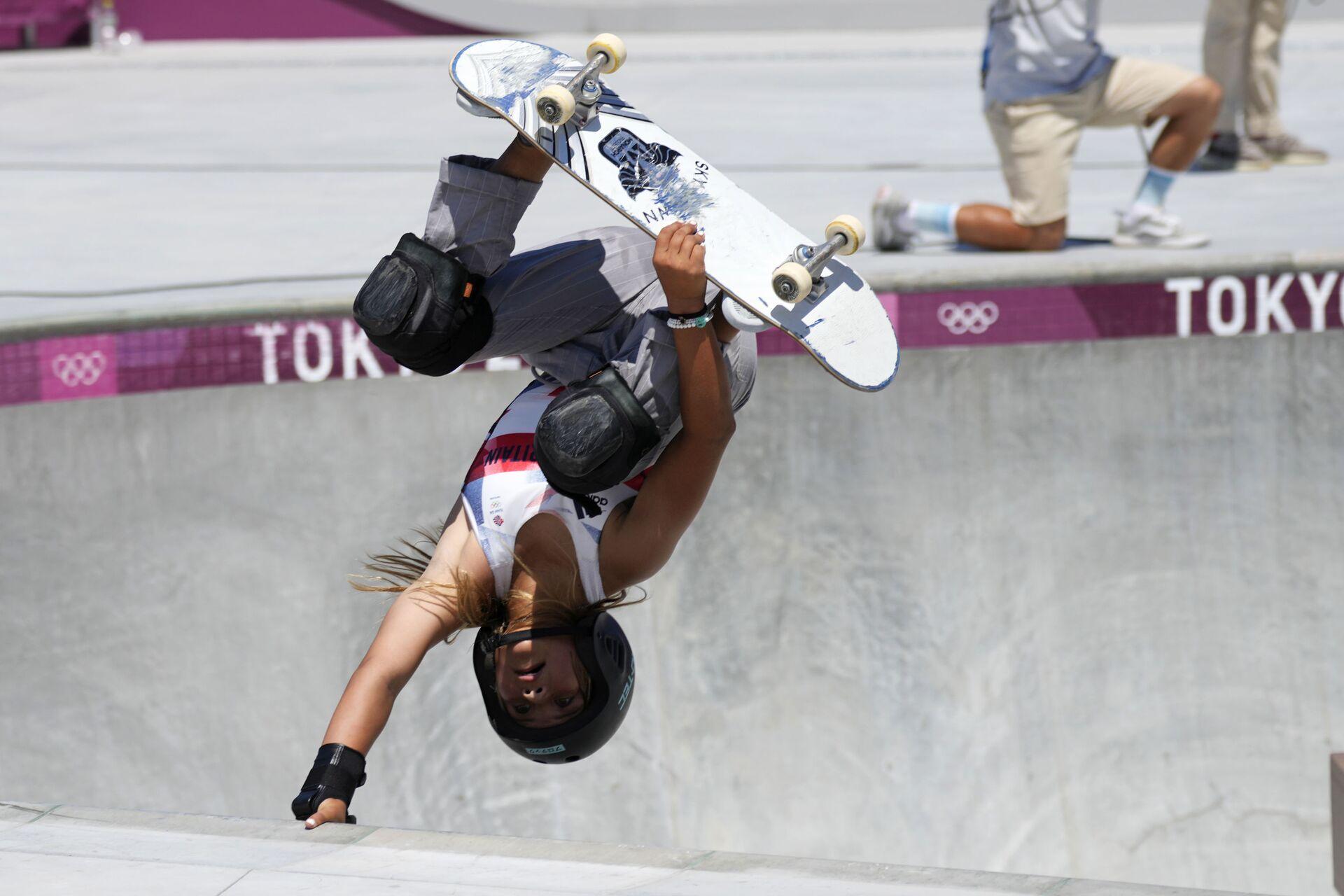 Sky Brown, 13, who won a bronze medal at the Tokyo Olympics - Sputnik International, 1920, 07.09.2021