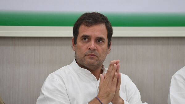 Indian National Congress Party president Rahul Gandhi gestures during a Congress Working Committee (CWC) meeting in New Delhi on May 25, 2019. - Sputnik International