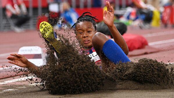 Keturah Orji of the United States in action. Women's Triple Jump - Qualification - Sputnik International