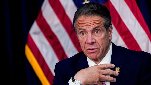 New York Governor Cuomo holds a news conference, in New York - Sputnik International