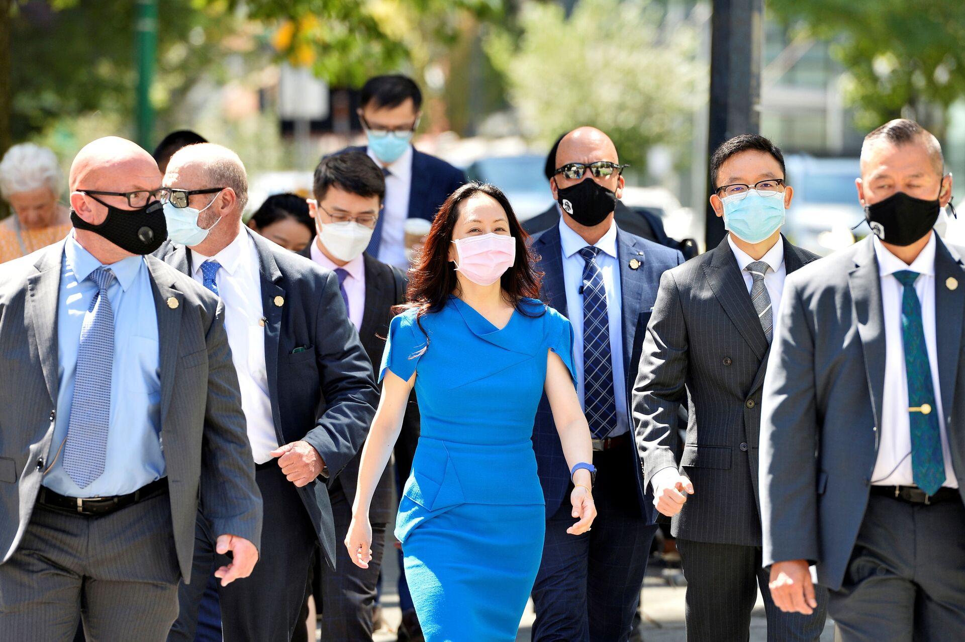Huawei Technologies Chief Financial Officer Meng Wanzhou returns to court following a break in Vancouver, British Columbia, Canada, August 4, 2021. REUTERS/Jennifer Gauthier - Sputnik International, 1920, 07.09.2021