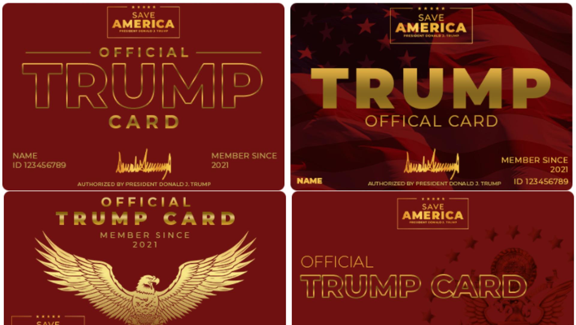 'Official Trump Card' designs. - Sputnik International, 1920, 05.08.2021