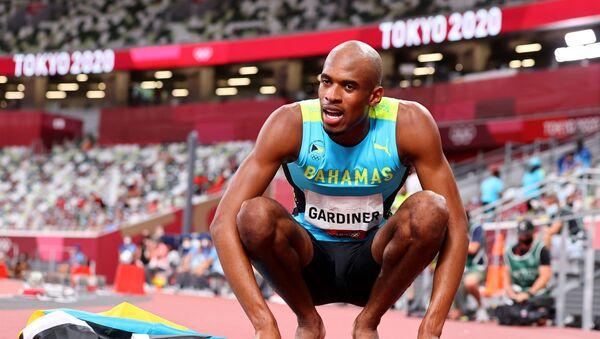 Gold medallist Steven Gardiner of the Bahamas reacts after the final  - Sputnik International
