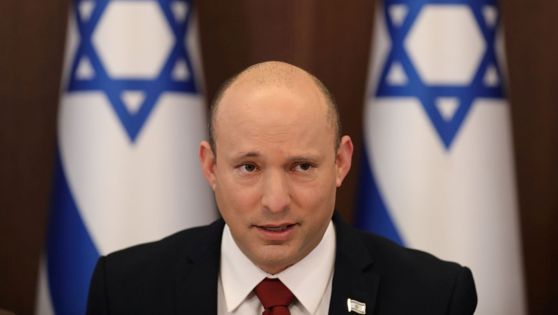 Israeli Prime Minister Naftali Bennett attends the weekly cabinet meeting at the prime minister's office in Jerusalem August 1, 2021. - Sputnik International, 1920, 17.08.2021