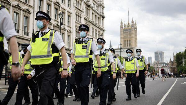 London police officers patrol the streets of Westminster. File photo  - Sputnik International