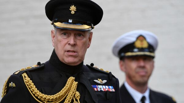 Britain's Prince Andrew, Duke of York, attends a ceremony commemorating the 75th anniversary of the liberation of Bruges on September 7, 2019 in Bruges - Sputnik International