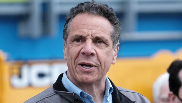 FILE PHOTO: New York Governor Andrew Cuomo speaks during a ground breaking ceremony at the Bay Park Water Reclamation Facility in East Rockaway, New York, U.S., April 22, 2021. Spencer Platt/Pool via REUTERS/File Photo - Sputnik International