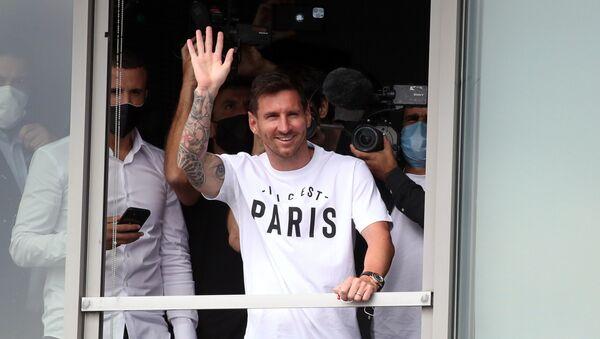 Лионель Месси прибывает в Париж, чтобы присоединиться к Пари Сен-Жермен - Sputnik International