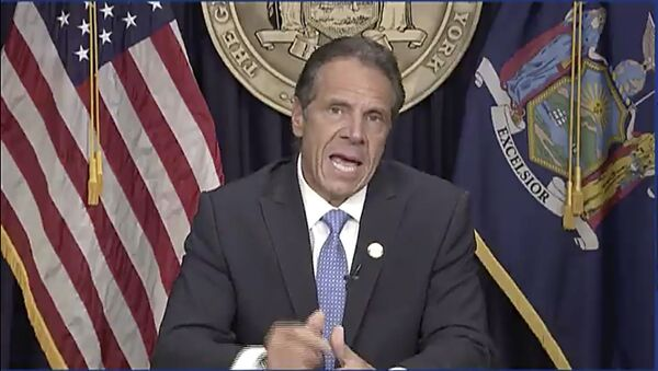 In this still image from video,  Gov. Andrew Cuomo speaks during a news conference in Albany, N.Y. on Tuesday, Aug. 10, 2021.  Cuomo has resigned over a barrage of sexual harassment allegations in a fall from grace a year after he was widely hailed nationally for his detailed daily briefings and leadership during the darkest days of COVID-19. (Office of the Governor of New York via AP) - Sputnik International