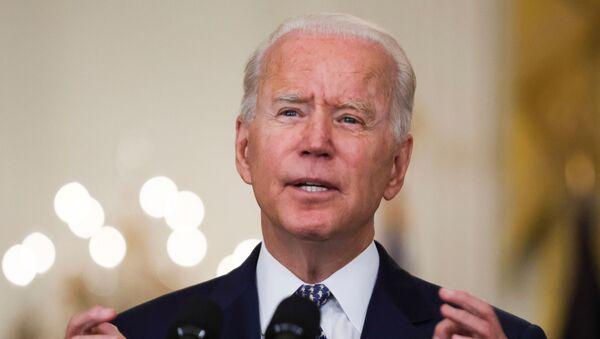 U.S. President Joe Biden answers questions from reporters in the East Room of the White House in Washington, U.S., August 10, 2021. - Sputnik International