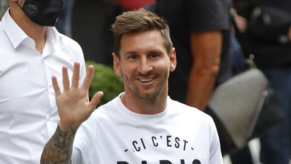 Soccer Football - Lionel Messi arrives in Paris to join Paris St Germain - Paris, France - August 10, 2021  Lionel Messi arrives at the Royal Monceau Hotel - Sputnik International