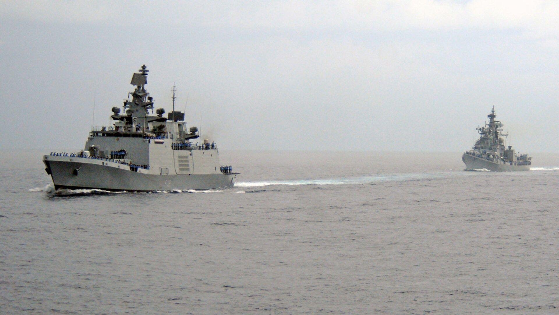 Indian Navy's ships cross the Indian Ocean. - Sputnik International, 1920, 11.08.2021