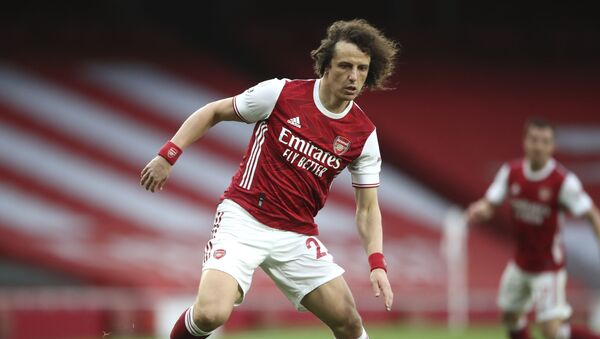 Arsenal's David Luiz during the English Premier League soccer match between Arsenal and Spurs at the Emirates stadium in London, England, on Sunday, 14 March 2021. - Sputnik International