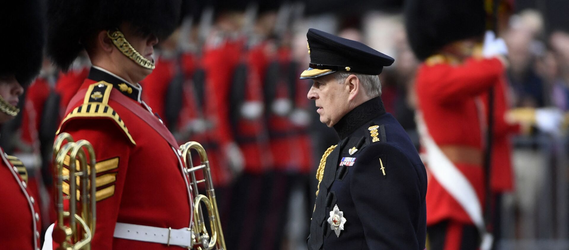 Britain's Prince Andrew, Duke of York, attends a ceremony commemorating the 75th anniversary of the liberation of Bruges on September 7, 2019 in Bruges - Sputnik International, 1920, 15.08.2021