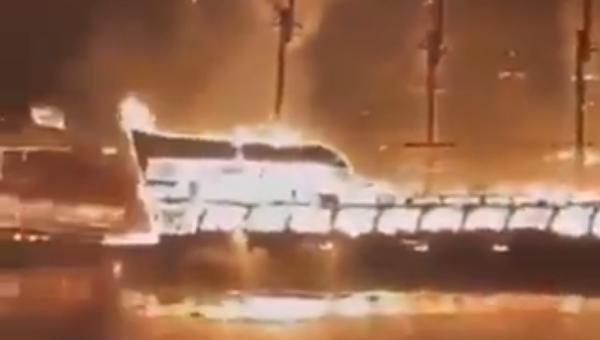 Four ships took fire in Alanya, Turkey, August 15, 2021 - Sputnik International