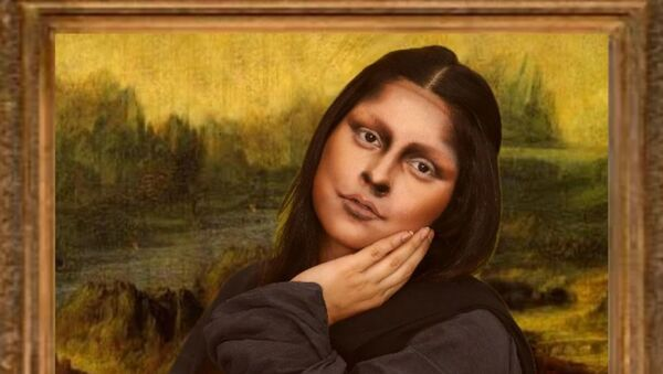 Illusion makeup artist Priyanka Panwar as Mona Lisa. - Sputnik International