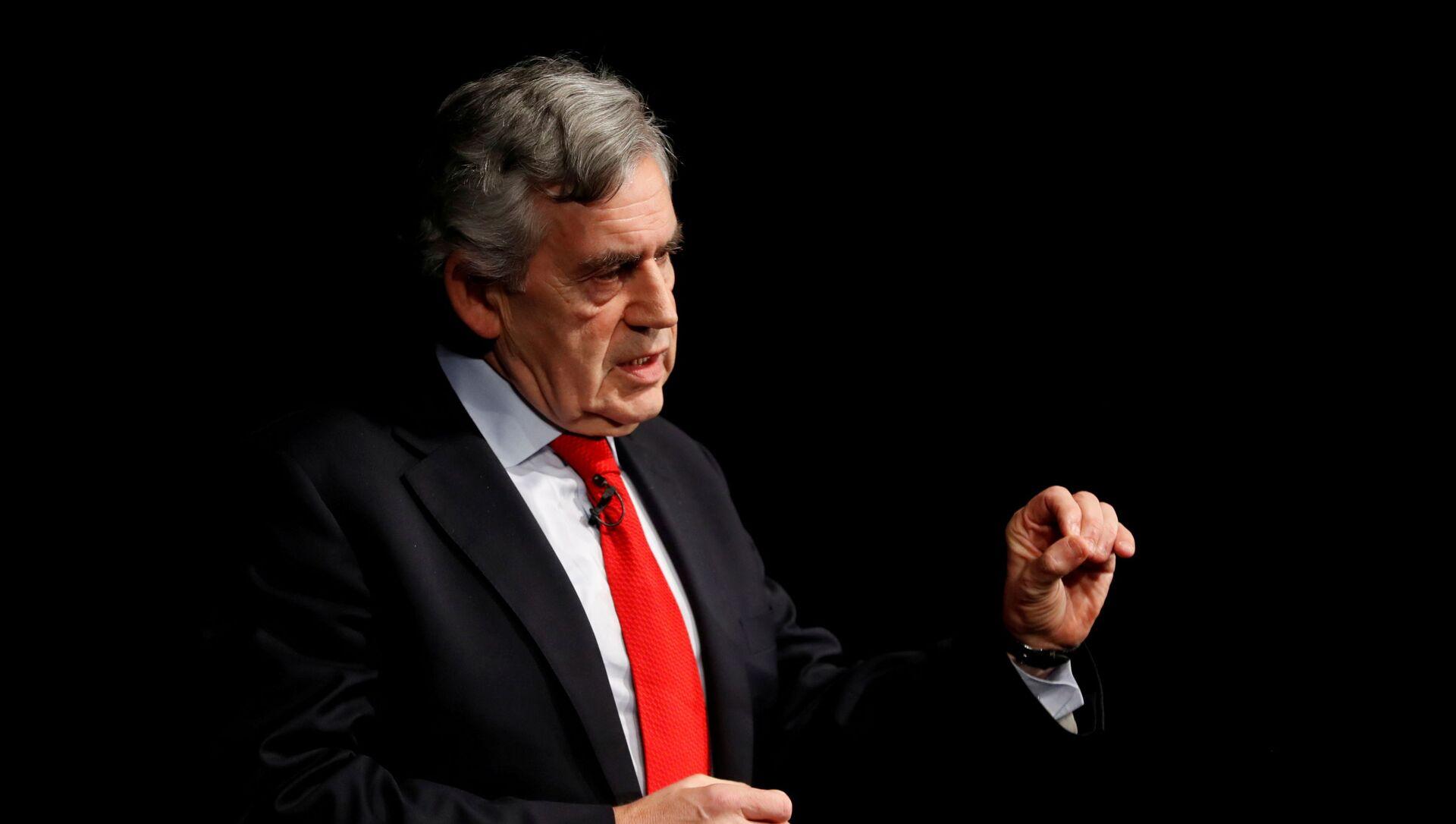 Britain's former Prime Minister Gordon Brown speaks at an event in Edinburgh, Scotland, Britain January 17, 2019 - Sputnik International, 1920, 16.08.2021