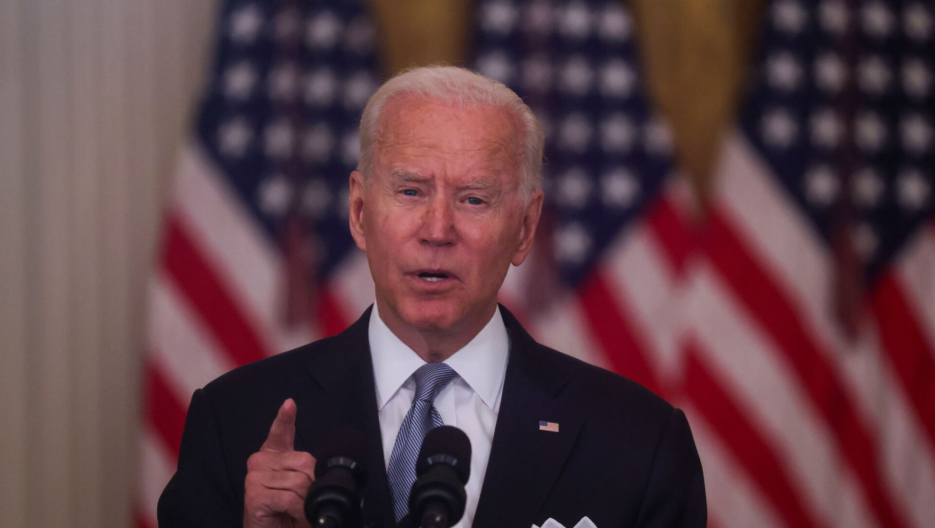 U.S. President Joe Biden delivers remarks on the crisis in Afghanistan during a speech in the East Room at the White House in Washington, U.S., August 16, 2021. - Sputnik International, 1920, 27.08.2021