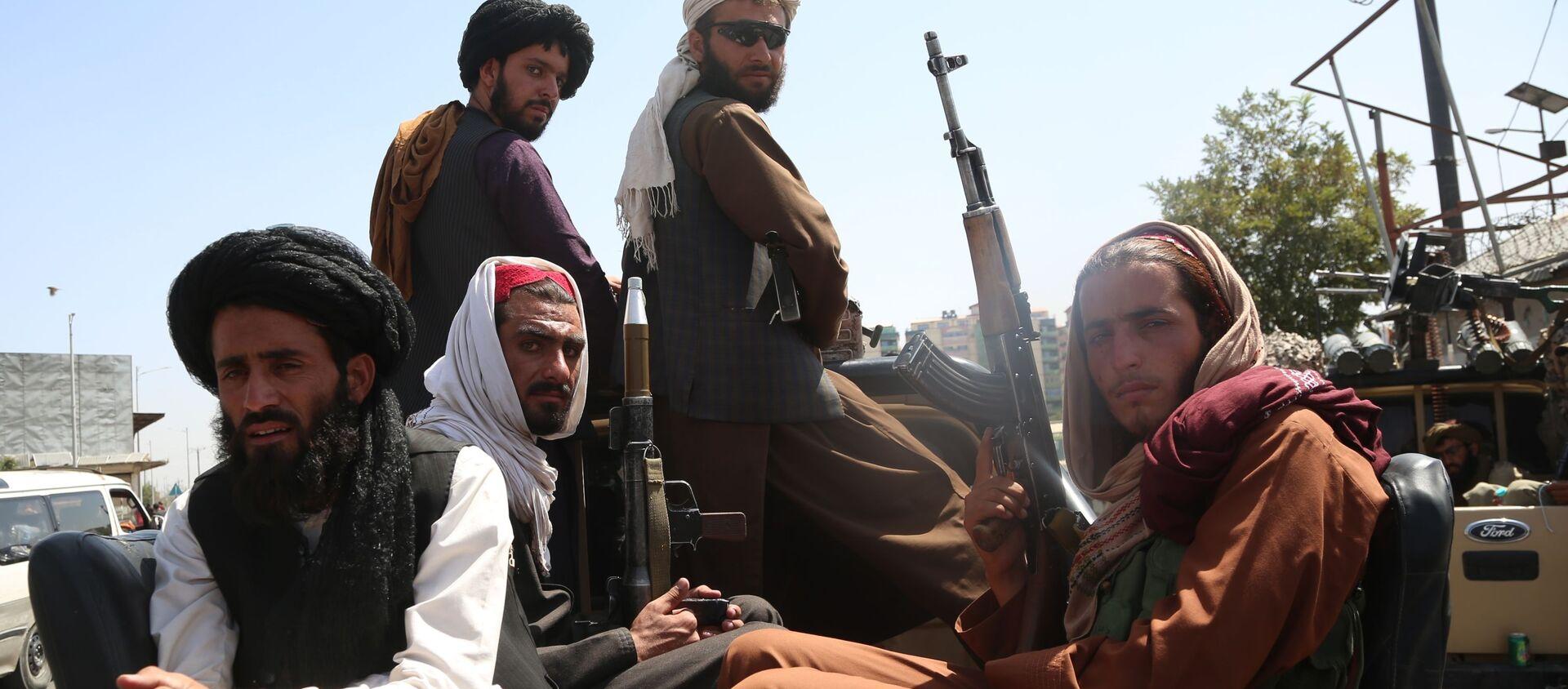 Taliban fighters in Kabul, Afghanistan, 16 August 2021 - Sputnik International, 1920, 20.08.2021