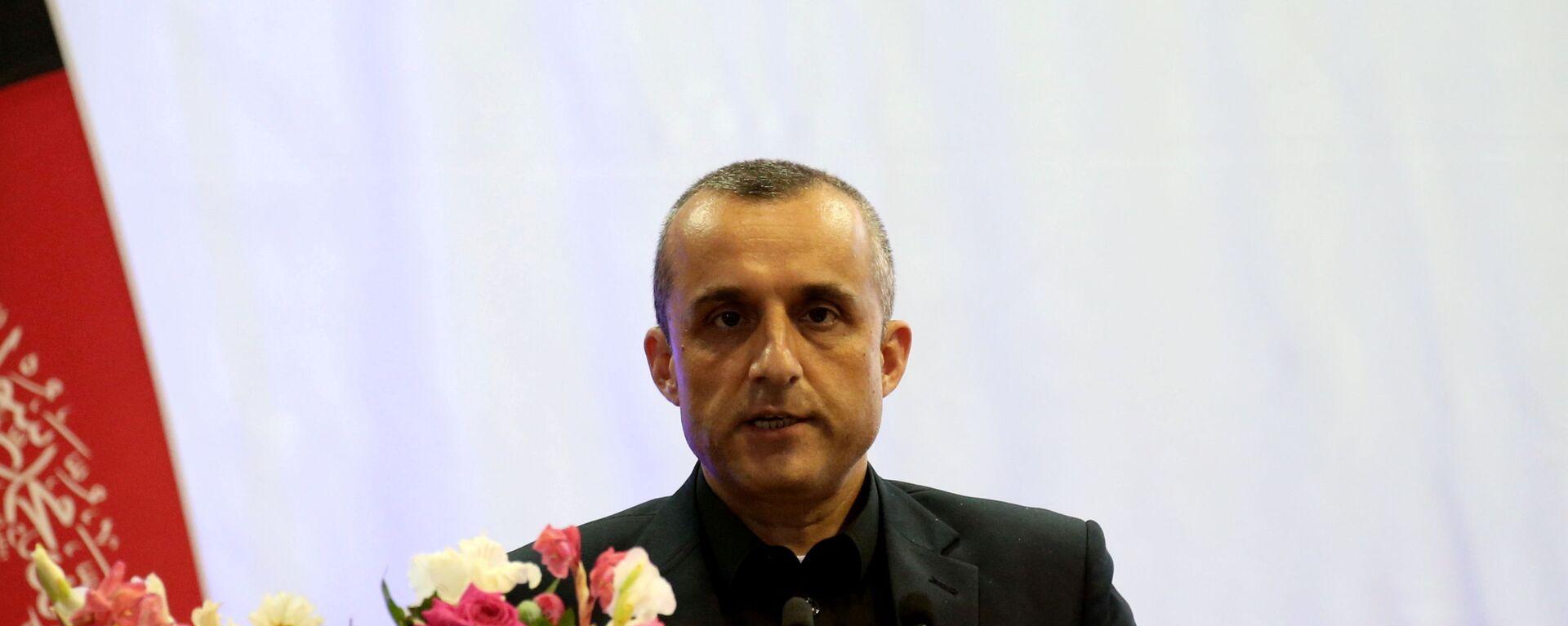 AmFILE PHOTO: Amrullah Saleh first vice-presidential candidate of Ashraf Ghani speaks during the presidential election campaign in Kabul,  Afghanistan, 13 September 2019. REUTERS/Omar Sobhani/File Photo - Sputnik International, 1920, 27.08.2021