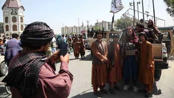 Taliban fighters (a terrorist group banned in Russia) pose for a photo in Kabul, Afghanistan.  - Sputnik International