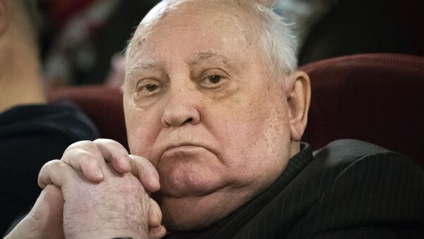 In this Thursday, Nov. 8, 2018 file photo, former Soviet leader Mikhail Gorbachev attends the Moscow premier of a film made by Werner Herzog and British filmmaker Andre Singer based on their conversations, in Moscow, Russia. Former Soviet leader Mikhail Gorbachev turned 90 on Tuesday March 2, 2021, receiving greetings from the Kremlin and global leaders while Russians remained divided over his legacy.  - Sputnik International