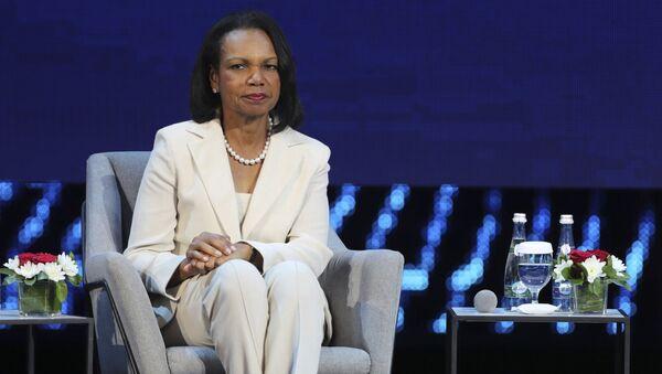 Former US Secretary of State, Condoleezza Rice attends the opening ceremony of the Abu Dhabi International Petroleum Exhibition & Conference, ADIPEC, in Abu Dhabi, United Arab Emirates.  - Sputnik International