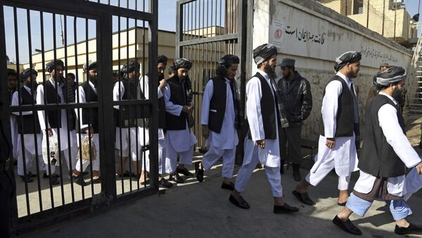 FILE - In this Jan. 11, 2018 file photo, Afghan prisoners prepare to be released from Pul-e-Charkhi prison, in Kabul, Afghanistan. A new report conducted jointly by the U.N. mission to Afghanistan and the U.N. Human Rights Office said Wednesday, Jan. 3, 2021 - Sputnik International