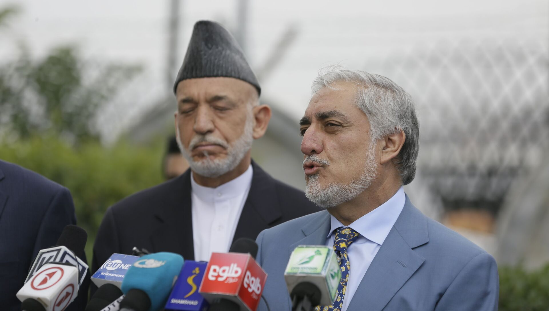 Abdullah Abdullah, head of Afghanistan's National Reconciliation Council talks about peace negotiation at the news conference at Hamid Karzai International Airport, in Kabul, Afghanistan, Friday, July. 16, 2021. - Sputnik International, 1920, 18.08.2021