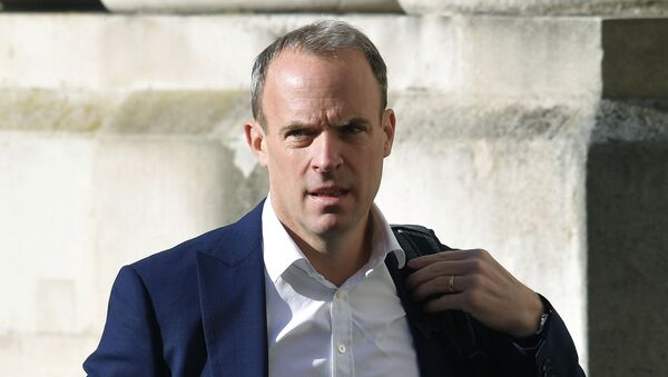 In this Thursday, Sept. 1, 2020 file photo, Britain's Foreign Secretary Dominic Raab arrives to attend a cabinet meeting of senior government ministers at the Foreign and Commonwealth Office FCO in London. - Sputnik International