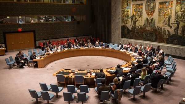 The United Nations Security Council (UNSC), meets about the ongoing Ukrainian-Russian conflict on August 28, 2014 in New York City. - Sputnik International