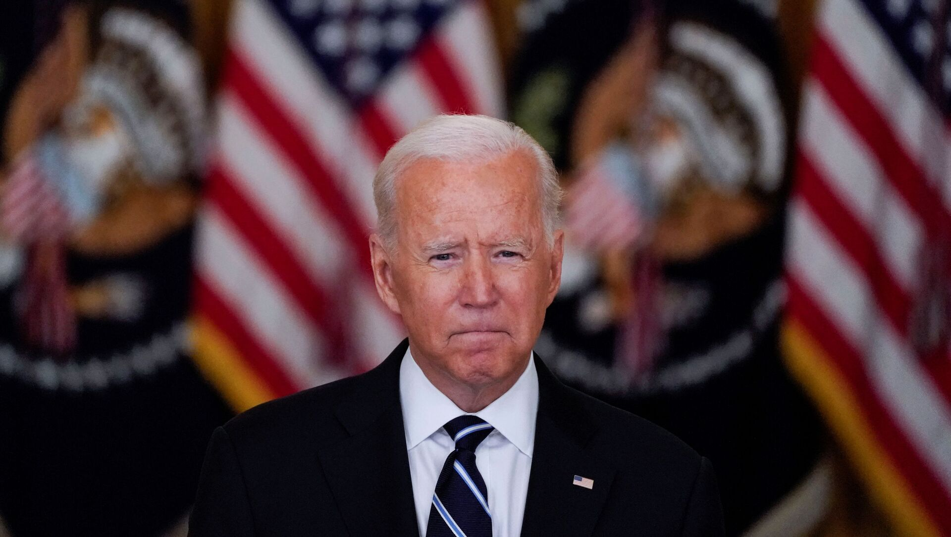 U.S. President Biden speaks about the coronavirus response and vaccination program at the White House in Washington - Sputnik International, 1920, 29.08.2021