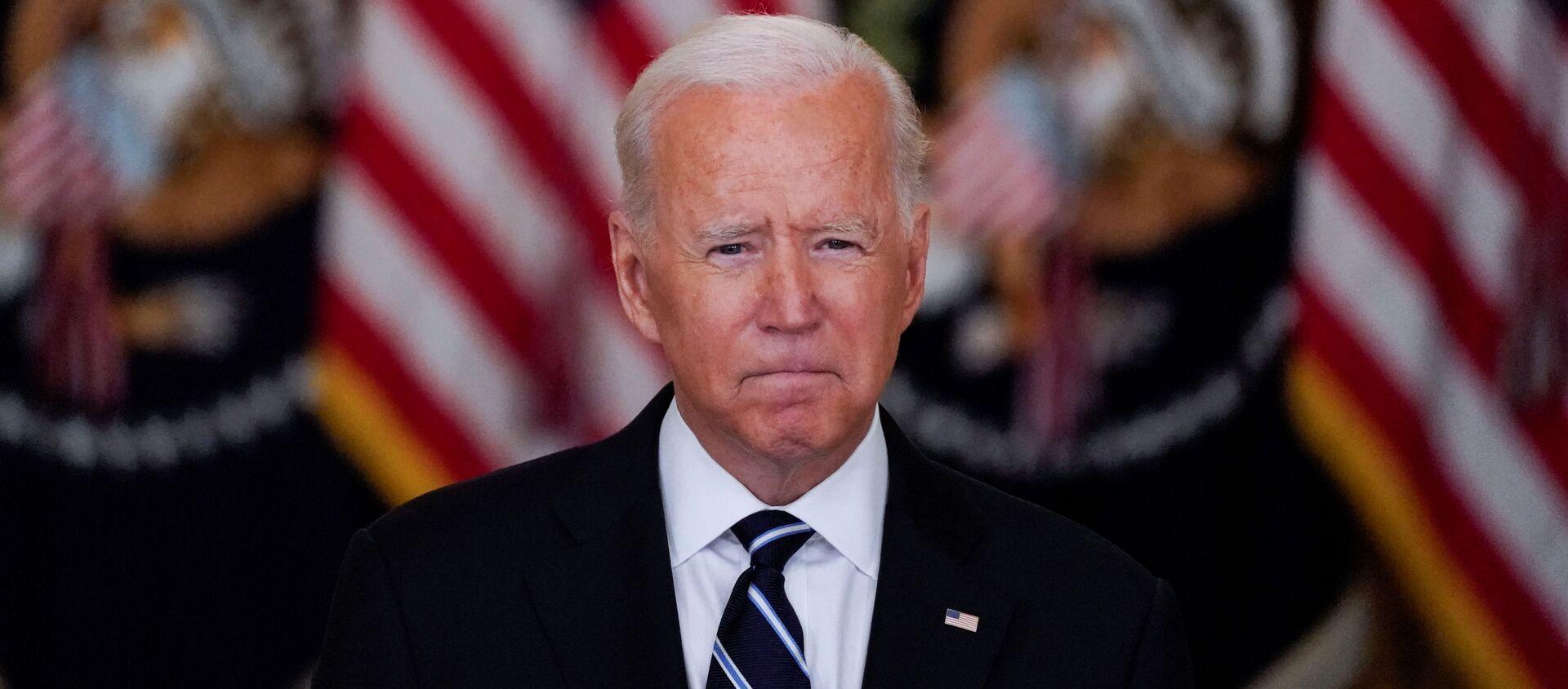 US President Biden speaks about the coronavirus response and vaccination programme at the White House in Washington - Sputnik International, 1920, 21.08.2021