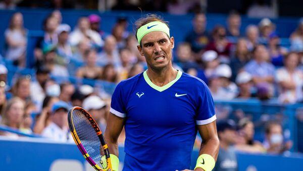 Rafael Nadal of Spain reacts during the Citi Open at Rock Creek Park Tennis Center - Sputnik International