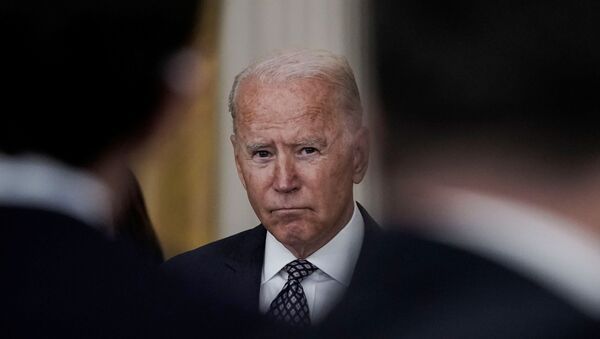 U.S. Joe Biden delivers remarks on evacuation efforts and the ongoing situation in Afghanistan during a speech in the East Room at the White House in Washington, U.S., August 20, 2021.  - Sputnik International