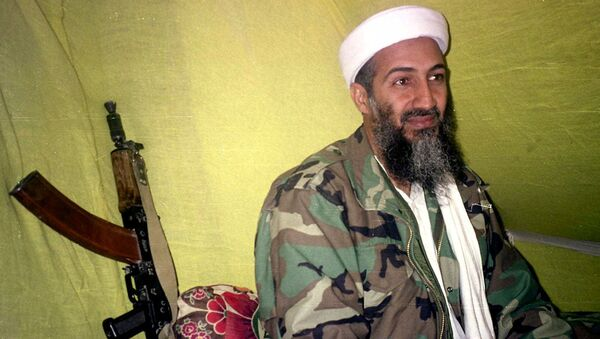 In this Dec. 24, 1998, file photo, al-Qaida leader Osama Bin Laden speaks to a selected group of reporters in mountains of Helmand province in southern Afghanistan.  - Sputnik International