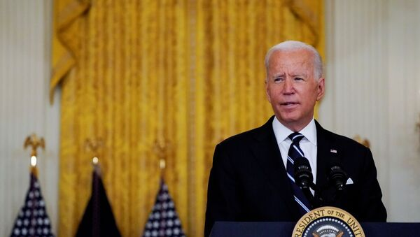 U.S. President Joe Biden delivers remarks on the coronavirus disease (COVID-19) response and  vaccination program during a speech in the East Room at the White House in Washington, U.S., August 18, 2021. - Sputnik International