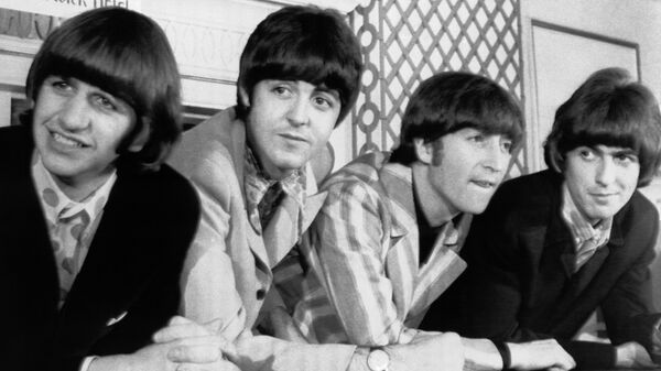 The Beatles, from left, Ringo Starr; Paul McCartney; John Lennon; and George Harrison appear at a press conference in New York. - Sputnik International
