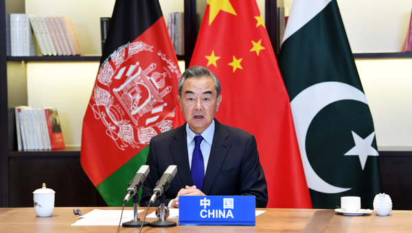 Chinese State Councilor and Foreign Minister Wang Yi hosts the 4th China-Afghanistan-Pakistan Foreign Ministers' Dialogue in Guiyang on June 4, 2021 - Sputnik International