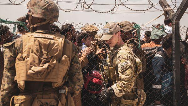 Evacuation at Hamid Karzai International Airport - Sputnik International