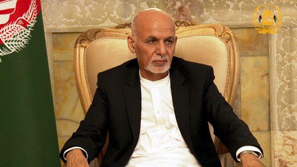 Afghanistan's President Ashraf Ghani attends a security meeting in Kabul, Afghanistan August 14, 2021 - Sputnik International
