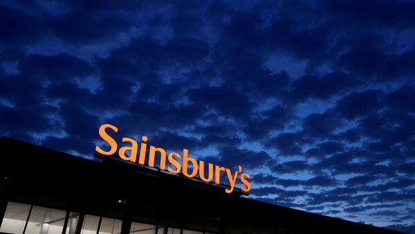 Signage for Sainsbury's is seen at a branch of the supermarket in London, Britain on 8 January 2020. - Sputnik International